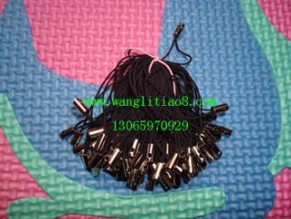 8000031--每包100个--单线挂头简易型手机链--黑色