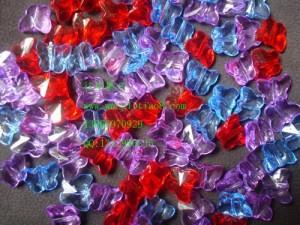 8000428--每包300个--蝴蝶型水晶散珠--混色