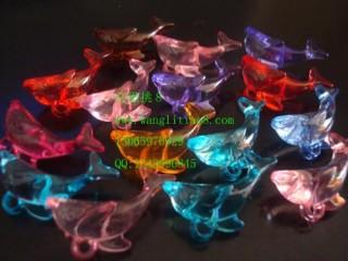 8000430--每包100个--饰品配件水晶小金鱼--混色