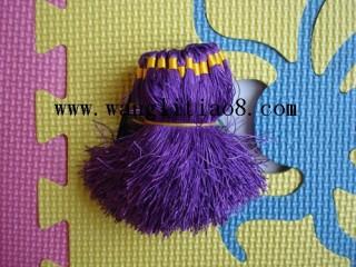 8000067--每包100个--流苏带圈型中国穗--紫色
