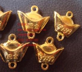 8000406--每包20个--金色饰品配件小元宝