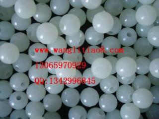 8000121--每包100个--10mm圆形珠子工艺品夜光珠--玉色