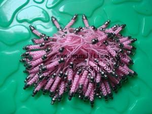 8000048--每包100个--渡银手机链--粉红色