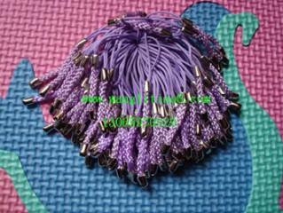 8000040--每包100个--镍锌合金手机链--紫色