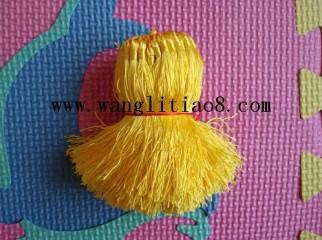 8000068--每包100个--流苏带圈型中国穗--黄色