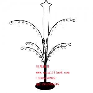 8000013--独饰源专用时尚树叶型饰品架椰树样品展架