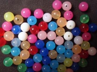 8000501--每包500个--8厘七彩珠亚克力散珠仿糖果珠