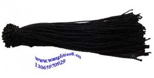 8000598--每包100个--七号线脚链--黑色