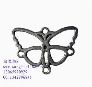 8000656--每包50个--藏银系列--蝴蝶