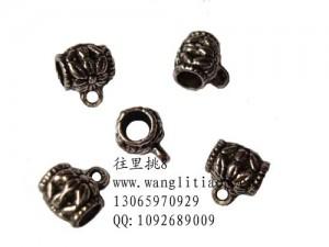 8000683--每包100个--大号大孔藏银扣--镍色