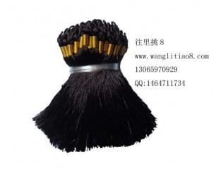 8000719--每包100个--流苏带圈型中国穗--咖啡色