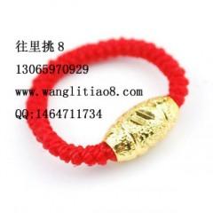 8000148--每包15个--保色戒指--金色