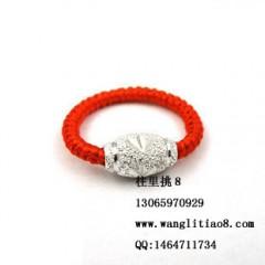8000149--每包15个--转运珠保色戒指--银色