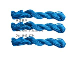 8000819--10M装--DIY饰品配件粗编织线--天蓝色