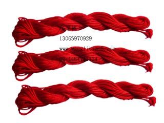 8000812--10M装--DIY饰品配件粗编织线--红色