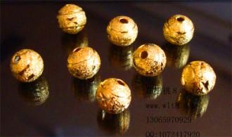 8205001--每包50个--独饰源手链转运珠--金色圆珠