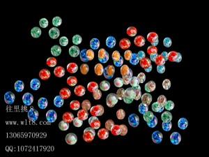 8000104--每包50个--8mm夜光琉璃夜光珠--混色