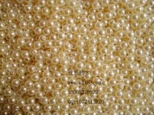 8000077--每包500装--8mm塑料仿珍珠--珍珠色