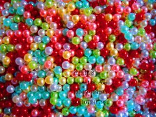 8000076--每包500装--8mm塑料仿珍珠--混色