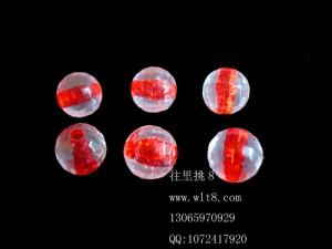 8205009--每包100个--10mm亚克力仿水晶珠--红色