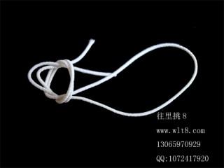 8000441--10米装--DIY饰品配件弹性线材--白色