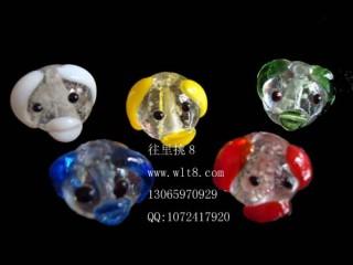 8000576--每包50个-琉璃饰品配件夜光狗--混装