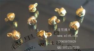 8000088--每包500个-- 6MM小铃铛-金色