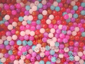 8000113--每包100个--10MM高级DIY串珠玻璃珠--混装