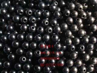 8000112--每包300个--10mm内侧大孔黑色珠子