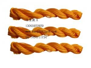 8000821--10M装--DIY饰品配件粗编织线--橘黄色