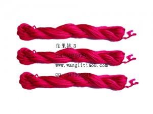 8000820--10M装--DIY饰品配件粗编织线--梅红色
