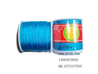 8000652--150米线材系列中国结线-湖蓝色
