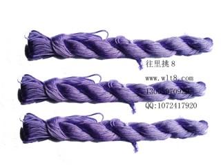 8000824--10M装--DIY饰品配件粗编织线--浅紫色