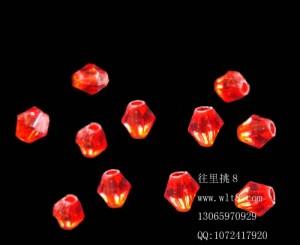8000918--每包1000个--4mm亚克力水晶尖珠--红色