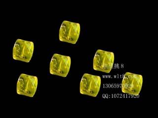 8205044--每包20个--方形多棱夜光水晶--康复黄