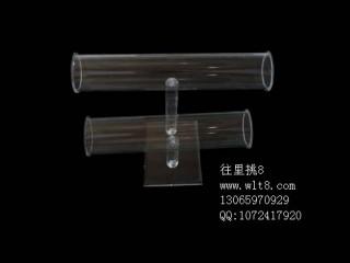 8000968--双层高档单面透明饰品展示架