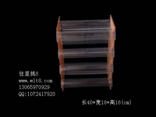8000969--超省空间八层双面高档透明饰品展示架