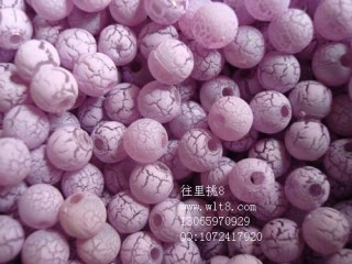8000932--每包500个6MM圆裂痕独饰源--紫色