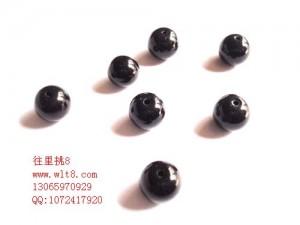 8000922--每包100个--10MM圆形玻璃珠--黑色