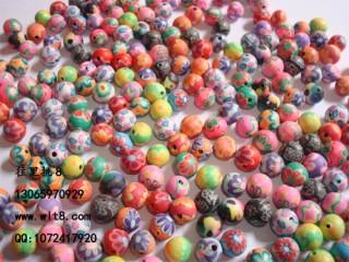 8205072--每包50个--8mm软陶珠--混装