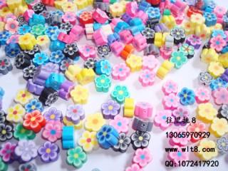 8205071--每包100个--软陶梅花--混装