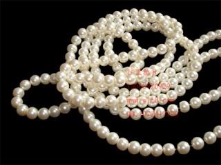 8000903--每包300个8mm高档独饰源玻璃仿珍珠--珍珠色