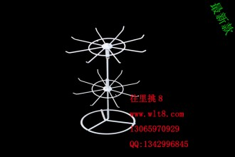 8000014--厂家直销二层最新可拆分可旋转饰品架首饰架展示架--01