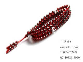 8000975--每条90个左右4mm天然石榴石--独饰源高档饰品配件必选