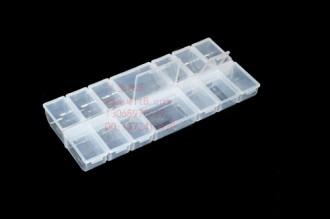 8000841--14格大透明软塑料饰品盒