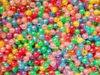 8000074--每包1000个--6MM七彩珠--混装