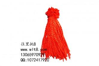 8000052--每包100个--六号线粗手链绳--红色