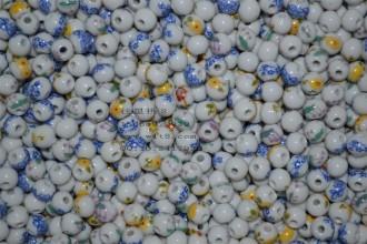8000549--每包200个--8mm陶瓷小瓷珠--混装