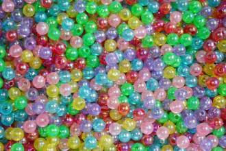 8000075--每包500个--8MM七彩珠--混装