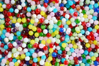 8000084--每包500个--6mm玻璃圆珠--混装